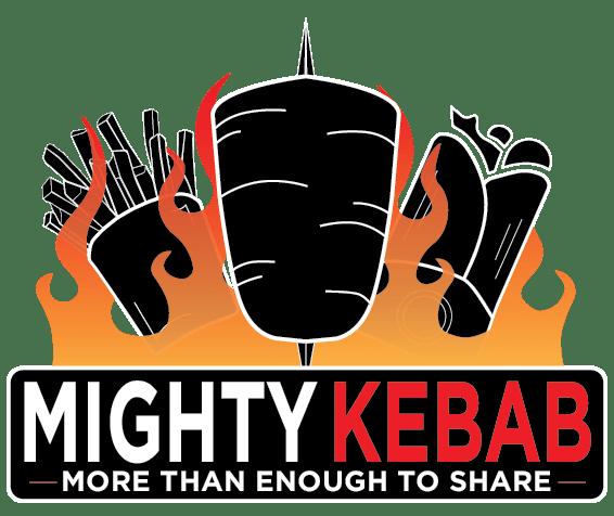mighty kebab logo black dark